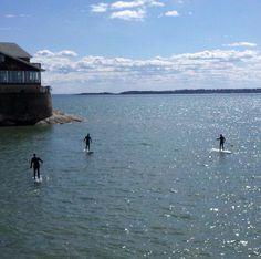 Spring paddleboarding in Lynn, MA