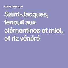 Saint-Jacques, fenouil aux clémentines et miel, et riz vénéré
