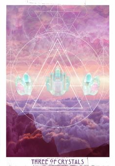 THE STARCHILD TAROT - 3 of Crystals // sacred geometry
