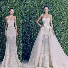 Wholesale A-Line Wedding Dresses - Buy 2014 New Zuhair Murad Wedding Dresses Sweetheart See Through Detachable Skirt Wedding Dress Sexy Fashion Bow Belt Bridal Gown BRI434, $153.62 | DHgate