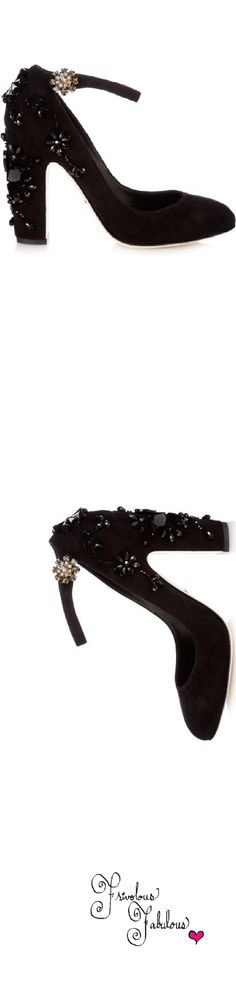 Dolce & Gabbana embellished ankle strap pump | House of Beccaria~