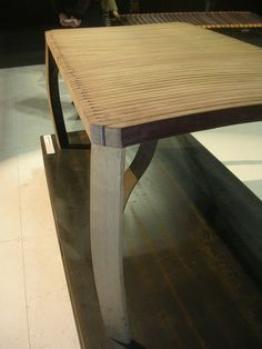Made from reclaimed wine barrel parts.  Milan 2012