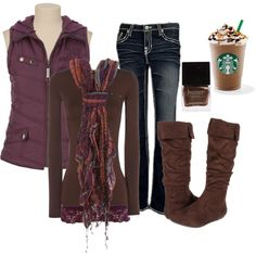 A fashion look from October 2012 featuring brown shirts, purple vest and big star jeans. Browse and shop related looks. Oscar Murillo, Purple Vests, Autumn Winter Fashion, Winter Style, Winter Wear, Passion For Fashion, Winter Outfits, What To Wear, Cute Outfits