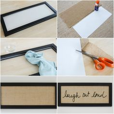 Learn how to create a DIY Vinyl Lettering personalized with your favorite saying! Apply vinyl lettering to a frame with burlap backing and you have a great gifts for any occasion. Diy Wall Art, Diy Wall Decor, Diy Home Decor, Diy Projects To Try, Crafts To Make, Diy Crafts, Chalkboard Markers, Dining Room Walls, Diy Signs