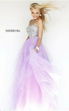 2014 Purple Sequin Prom Dress Sherri Hill 11085