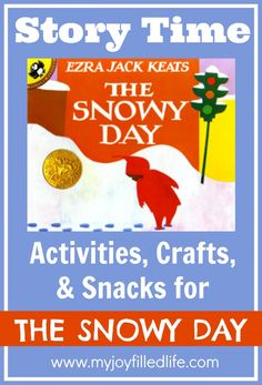 Lots of Story Time Activities, Crafts, and Snacks to go along with The Snowy Day. And a book a month club with activities, crafts and snacks! Preschool Literacy, Preschool Books, Classroom Activities, Preschool Winter, Classroom Ideas, Snow Activities, Reading Activities, Kindergarten Reading, Children Activities