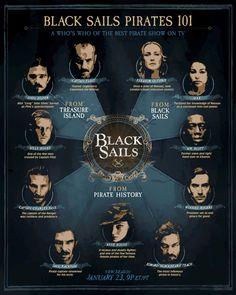 "Black Sails ~ ""BLACK SAILS PIRATES 101"" From pirate history. | #BlackSails"