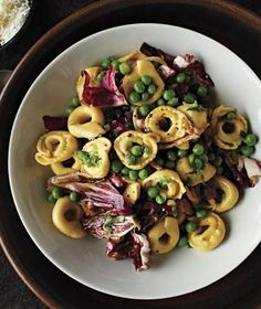 Tortellini With Radicchio and Peas
