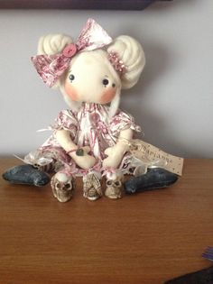 Ooak cloth rag doll by Isaac and iris