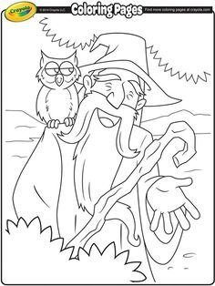 Color In This Wizard With A Printable Crayola Coloring Page