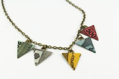 Upcycled Board Game Bunting Necklace by sawyerandscout on Etsy, £6.99