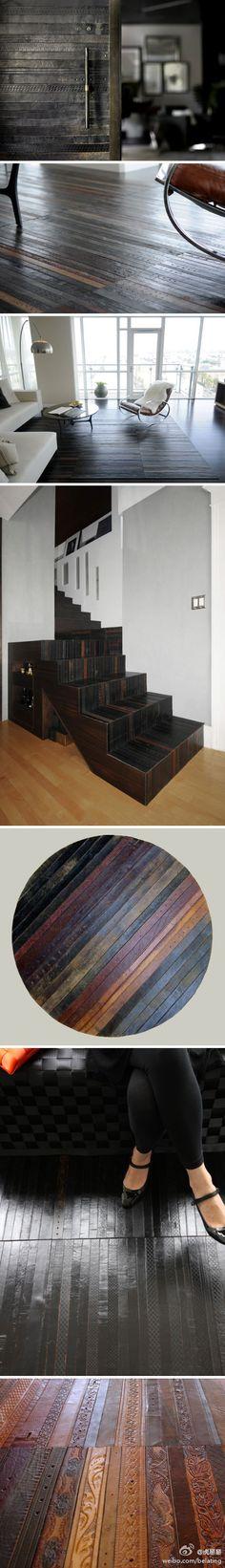 29 Best Leather Floor Images On Pinterest Floors Tile Flooring