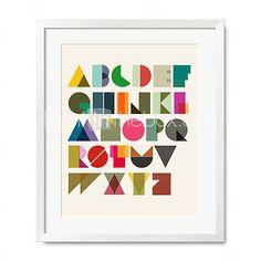 Typografie en symbolen Abstract zesentwintig Engels Letters Poster