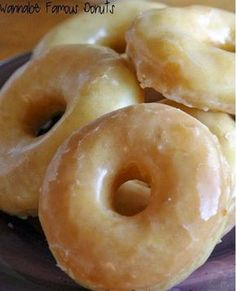 First of all, let me explain. I made these donuts a couple weekends ago for everyone here on the ranch. I love making donuts.... but it's...