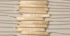 Bar Necklace Personalized Name Plate Necklace, Gold, Silver, Rose Gold Name Bar Necklace: Layered and Long PERFECT BAR Necklace, bo th kids name on its own necklace. Each kid initial on one necklace. and date of anniversary we met one one. Cute Jewelry, Jewelry Accessories, Jewelry Necklaces, Gold Jewelry, Jewelry Box, Jewelry Armoire, Etsy Jewelry, Jewelry Stores, Jewelry Holder