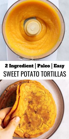 Sweet potato paleo tortillas made with two ingredients! An easy gluten free and paleo tortilla recipe. These tortillas are pliable, delicious, and easy to make! Best paleo diet tortilla recipe. #paleo