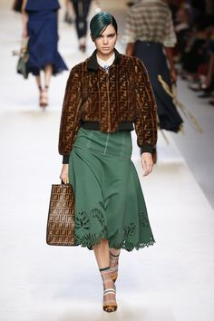 Kendall Walked the Fendi Runway in a Logo-Covered Bomber Jacket Runway Fashion, Fashion Outfits, Womens Fashion, Kendall And Kylie Jenner, Street Style Looks, Casual Wear, Bomber Jacket, Style Inspiration, Fendi