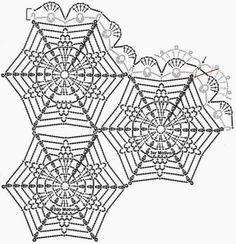 Crochet Pattern Hexagon Motif