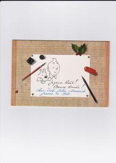 Hergé - Carte de voeux / Wenskaart - Joyeux Noël! Bonne Année! - Tintin / Kuifje (1961/62) - Catawiki