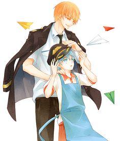 Kise Ryota and Kuroko Tetsuya 黄黒ログまとめ   ddok [pixiv] http://www.pixiv.net/member_illust.php?mode=medium&illust_id=41757611