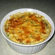 A cheesy egg noodle casserole is chock full of melted Cheddar cheese, celery, zucchini, peas, and imitation crabmeat in a smooth and creamy sauce. Crab Casserole, Noodle Casserole, Casserole Recipes, Cream Of Potato Soup, Cream Of Celery Soup, Crab Dishes, Seafood Dishes, Shrimp Soup, Shrimp Recipes