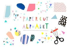 Paper CUT Alphabet  by Lera Efremova on @creativemarket