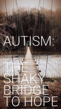 www.reallifemomsblog.wordpress.com/2018/01/15/autism-the-shaky-bridge-to-hope/  New to the autism world or seasoned, this encouraging blog post will remind you why you wake up each and every morning! #autism #encouragement #journey #boymom #reallifemoms #special needs #sensoryprocessingdisorder #apraxia #stimming