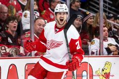 Tatar seals the victory for Detroit.suck on that Chicago! Detroit Hockey, Hockey Teams, Just A Game, Detroit Red Wings, Ronald Mcdonald, Celebrities, Sports, Hawks, Sport
