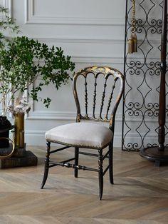 antique furniture chair NapoléonⅢ interior france french home decor アンティーク 家具 椅子 チェア ナポレオンチェア インテリア フレンチアンティーク フランス