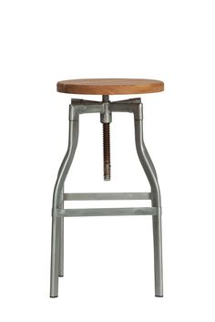 Replica Turner Industrial Bar Stool Large - Steel -- This chic Industrial stool is based on classic 1930's French Design. This fabulous stool is perfect for those with a vintage inspired decor, or to create an industrial look. This Replica Turner Industrial Stool in a larger height maintains that minimal style with a rustic height adjustment function that is used by turning the seat to screw the seat up and down. The wooden seat can be adjusted from 64cm to a maximum 83cm high. The ...
