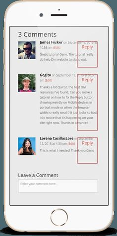 Fixing the Divi Reply Button on Mobile Devices