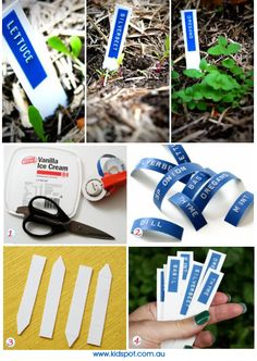 Make your own garden markers - great idea!