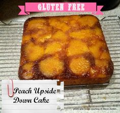 Peach Upside Down Cake - gluten-free (includes dairy-free options)