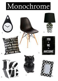 Monochrome Decor... I Work Hard, Room Stuff, Home Reno, Reno Ideas, Laugh Out Loud, Monochrome, Sweet Home, Collage, Concept
