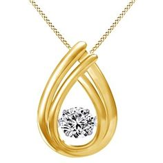 "1/10 Ct Round Cut D/VVS1 Teardrop Pendant w/18"" Chain by JewelryHub on Opensky"