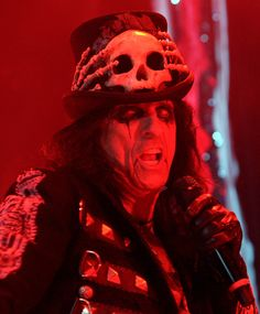 """Alice Cooper in concert for the first night of his Australian """"Theatre Of Death"""" Tour at the Brisbane Convention Centre on August 22, 2009 in Brisbane, Australia."""