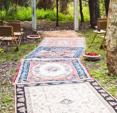 Old rug walkways. That's pure genius