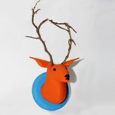 Stuffed deer head? Love! You can #DIY with this craft kit that comes with everything you need.