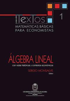 matemaicas basicas para economistas álgebra lineal de sergio monsalvé