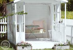 Romantische Deko für mein weißes Gartenhaus