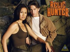 """Relic Hunter"" (1999–2002) Stars: Tia Carrere, Christien Anholt, Lindy Booth"