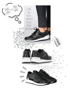 """""""Michael Kors Sneaker Allie Trainer black"""" by guery ❤ liked on Polyvore featuring Tag, MICHAEL Michael Kors and Old Navy"""