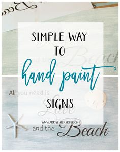SIMPLE way to hand paint signs! I need this! artsychicksrule.com