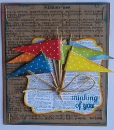 Love the pennants and book text