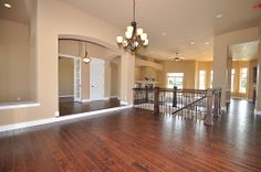 Beautiful, dark wood floors
