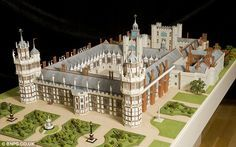 Majestic: Nonsuch (Palace that Henry VIII designed) can be seen in all its glory for the first time in more than 300 years after a model maker recreated it thanks to an Oxford University professor's research Tudor History, British History, Asian History, Palaces, Katharina Von Aragon, Elisabeth I, Tudor Monarchs, Tudor Dynasty, Catherine Of Aragon