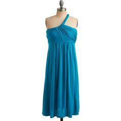 Fluid Dynamics Dress in Teal ($35) ❤ liked on Polyvore