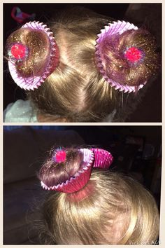Crazy hair day – cupcakes - All For Hairstyles Crazy Hair Day Girls, Crazy Hair For Kids, Crazy Hair Day At School, Crazy Hat Day, Crazy Hats, Little Girl Hairdos, Girls Hairdos, Kids Curly Hairstyles, Wacky Hair Days
