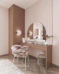 Angolo beauty in stile moderno design Room Design Bedroom, Room Ideas Bedroom, Home Room Design, Home Decor Bedroom, Home Interior Design, Modern Interior, Modern Luxury Bedroom, Luxurious Bedrooms, Dressing Room Design