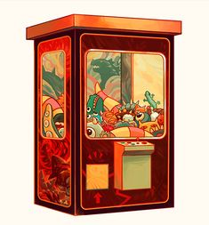"""karekareo: """" monster claw machine gif 👾 had to separate it into 3 gifs because of the file size limit ; Art And Illustration, Graphic Design Illustration, Prop Design, Design Art, Claw Machine, Cute Kawaii Animals, Halloween Artwork, Isometric Art, Game Character Design"""
